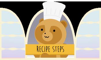 recipe step list grid