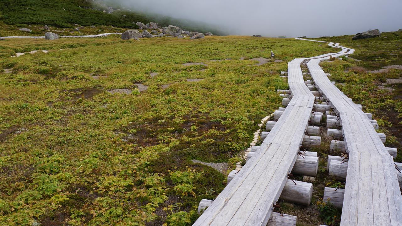 Starting route of Mount Norikura