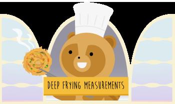 frying measurements grid