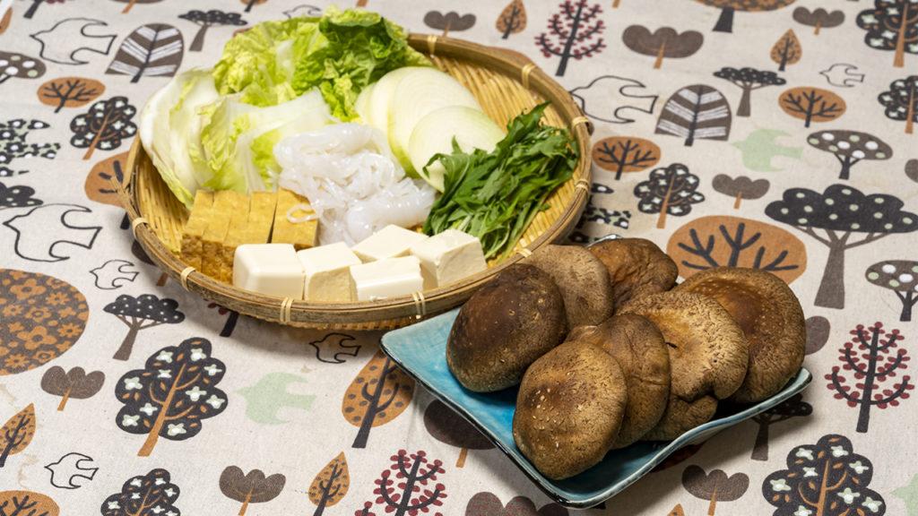 shiitake sukiyaki ingredients
